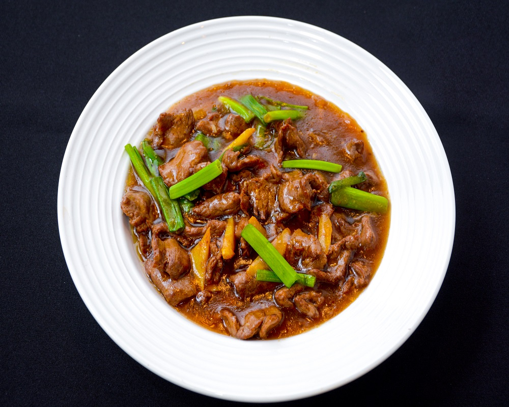 Beef With Ginger & Spring Onion